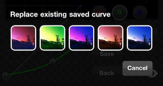 PicTools save curve